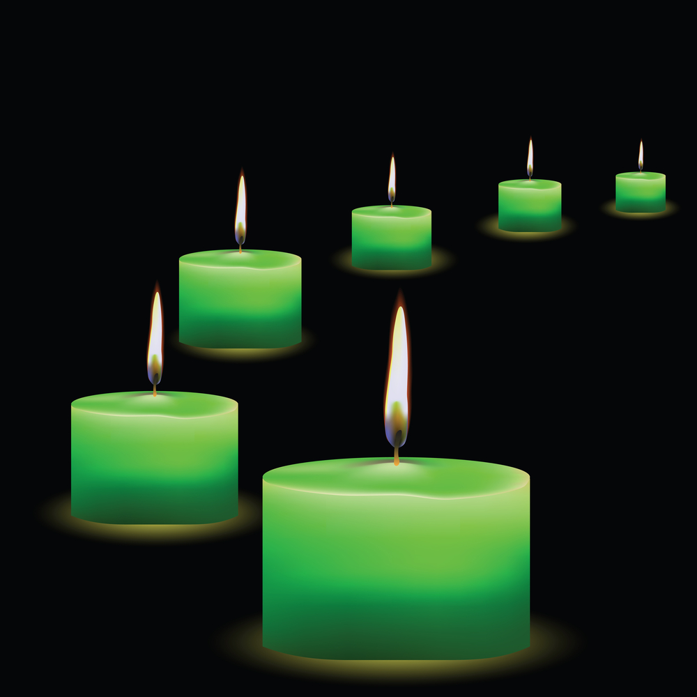 Green Candle for Love